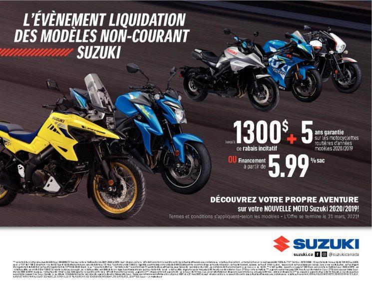 Promotions moto Suzuki